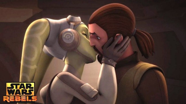 Kanan and Hera kiss
